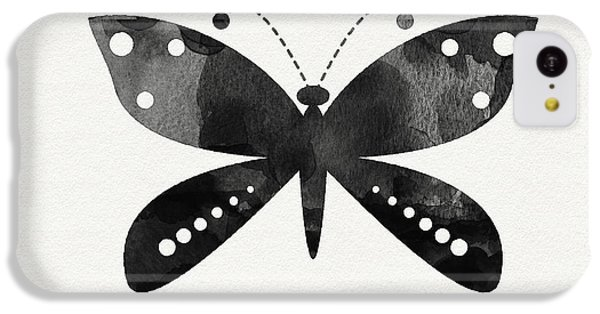 Midnight Butterfly 4- Art By Linda Woods IPhone 5c Case