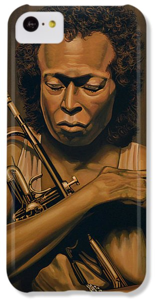 Duke iPhone 5c Case - Miles Davis Painting by Paul Meijering