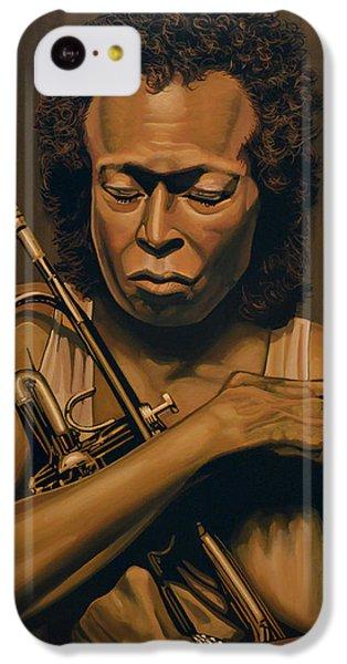 Trumpet iPhone 5c Case - Miles Davis Painting by Paul Meijering