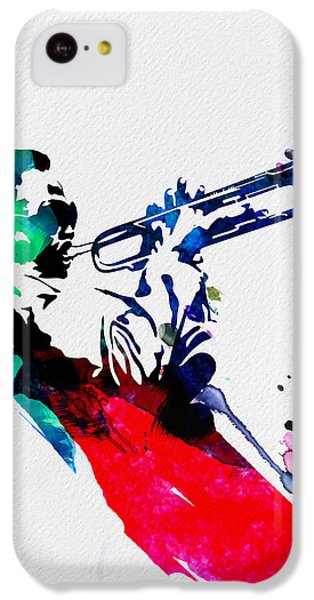 Jazz iPhone 5c Case - Miles Watercolor by Naxart Studio