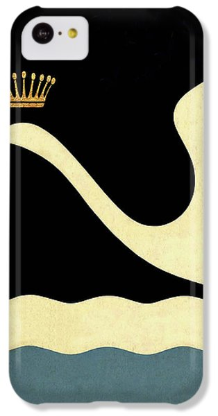 Minimalist Swan Queen Flying Crowned Swan IPhone 5c Case by Tina Lavoie