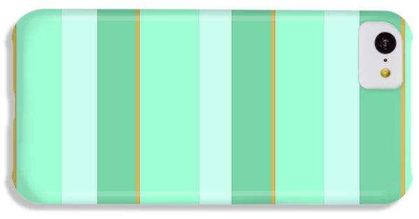 Mint Green Stripe Pattern IPhone 5c Case by Christina Rollo