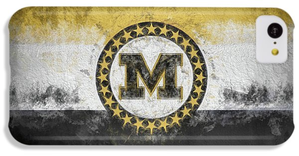 IPhone 5c Case featuring the digital art Mizzou State Flag by JC Findley