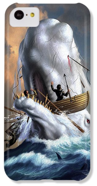 Sharks iPhone 5c Case - Moby Dick 1 by Jerry LoFaro