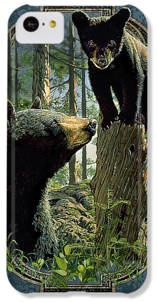 Bear iPhone 5c Case - Mom And Cub Bear by JQ Licensing