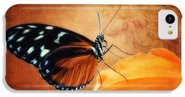 Monarch Butterfly On An Orchid Petal IPhone 5c Case by Tom Mc Nemar