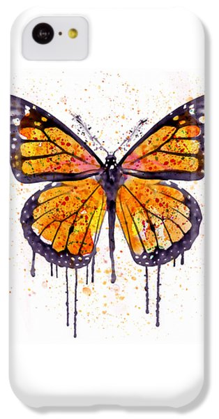 Monarch Butterfly Watercolor IPhone 5c Case by Marian Voicu