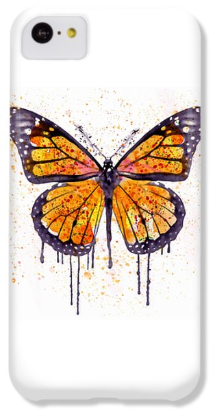 Monarch Butterfly Watercolor IPhone 5c Case