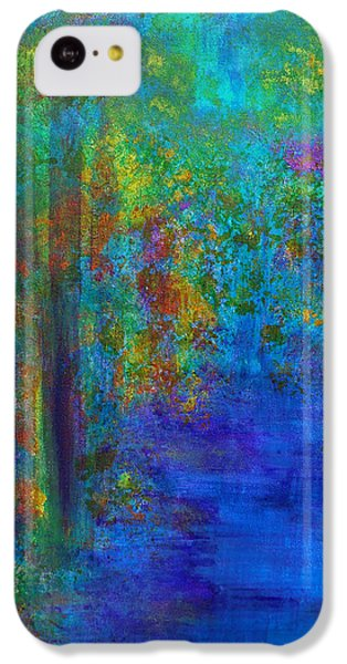 IPhone 5c Case featuring the painting Monet Woods by Claire Bull