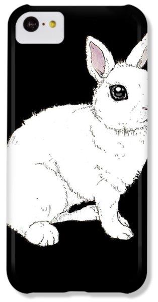 Monochrome Rabbit IPhone 5c Case by Katrina Davis