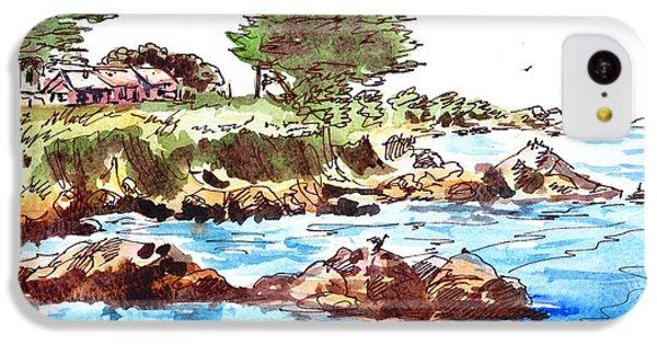 IPhone 5c Case featuring the painting Monterey Shore by Irina Sztukowski