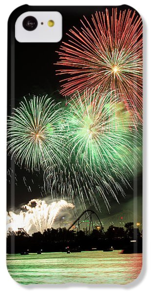 Montreal-fireworks IPhone 5c Case by Mircea Costina Photography