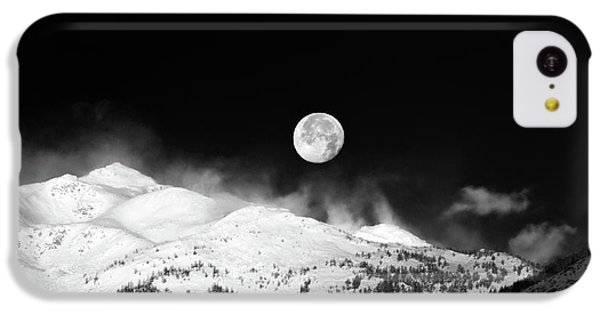 Moon Over The Alps IPhone 5c Case by Silvia Ganora