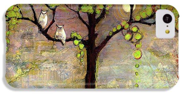 Moon River Tree Owls Art IPhone 5c Case