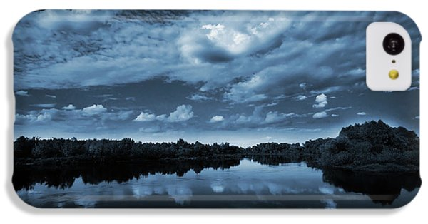 Nature iPhone 5c Case - Moonlight Over A Lake by Jaroslaw Grudzinski