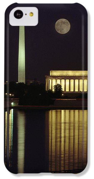Lincoln Memorial iPhone 5c Case - Moonrise Over The Lincoln Memorial by Richard Nowitz
