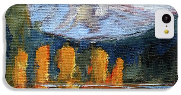IPhone 5c Case featuring the painting Morning Light Mountain Landscape Painting by Nancy Merkle