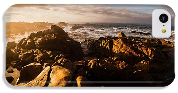 IPhone 5c Case featuring the photograph Morning Ocean Panorama by Jorgo Photography - Wall Art Gallery