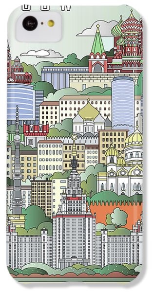 Moscow Skyline iPhone 5c Case - Moscow City Poster by Pablo Romero