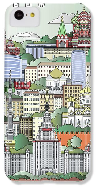 Moscow City Poster IPhone 5c Case by Pablo Romero