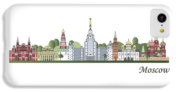 Moscow Skyline Colored IPhone 5c Case by Pablo Romero