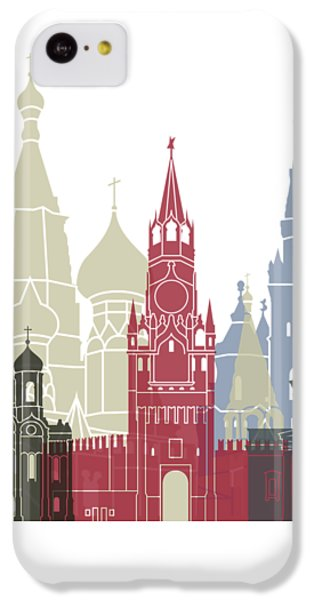Moscow Skyline iPhone 5c Case - Moscow Skyline Poster by Pablo Romero