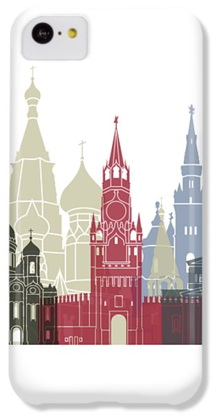 Moscow Skyline Poster IPhone 5c Case by Pablo Romero