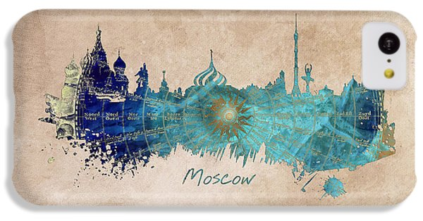 Moscow Skyline Wind Rose IPhone 5c Case