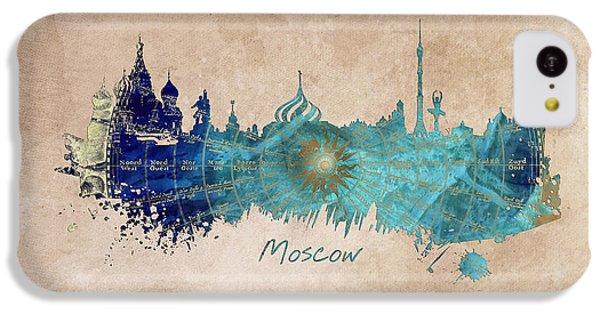 Moscow Skyline iPhone 5c Case - Moscow Skyline Wind Rose by Justyna JBJart
