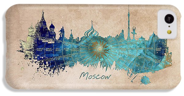 Moscow Skyline Wind Rose IPhone 5c Case by Justyna JBJart