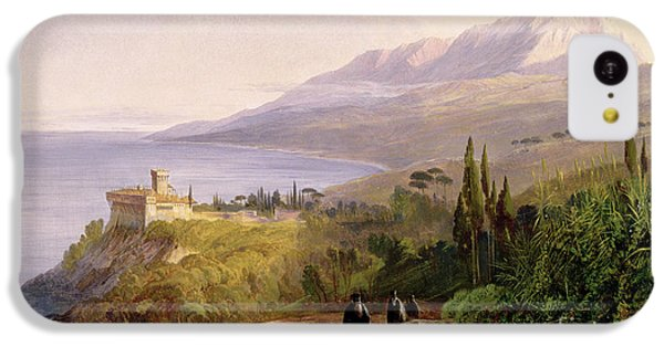 Mount Athos And The Monastery Of Stavroniketes IPhone 5c Case by Edward Lear
