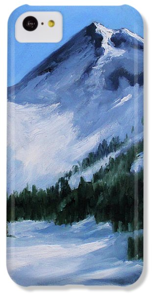 IPhone 5c Case featuring the painting Mount Baker Glacier by Nancy Merkle
