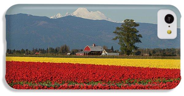 Mount Baker Skagit Valley Tulip Festival Barn IPhone 5c Case by Mike Reid