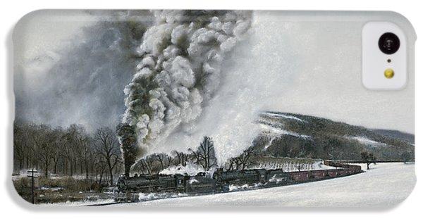 Train iPhone 5c Case - Mount Carmel Eruption by David Mittner
