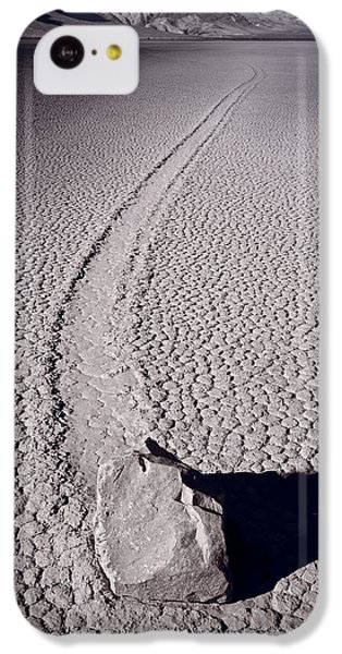 Desert iPhone 5c Case - Moving Rocks Number 2  Death Valley Bw by Steve Gadomski