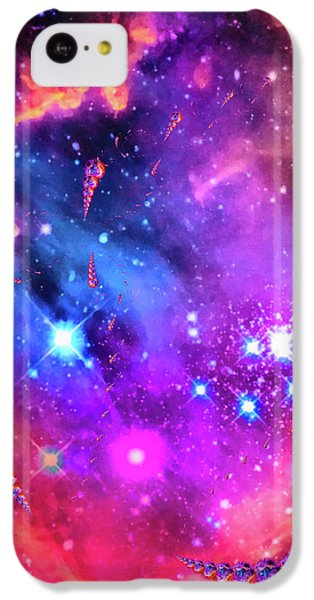 Colorful iPhone 5c Case - Multi Colored Space Chaos by Matthias Hauser