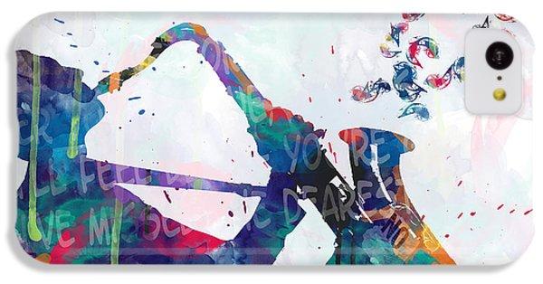 Saxophone iPhone 5c Case - Music  by Mark Ashkenazi