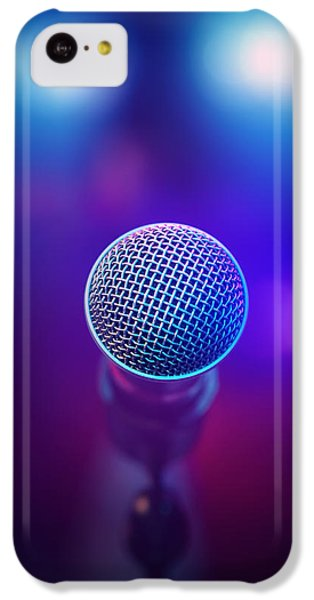 Musical iPhone 5c Case - Musical Microphone On Stage by Johan Swanepoel