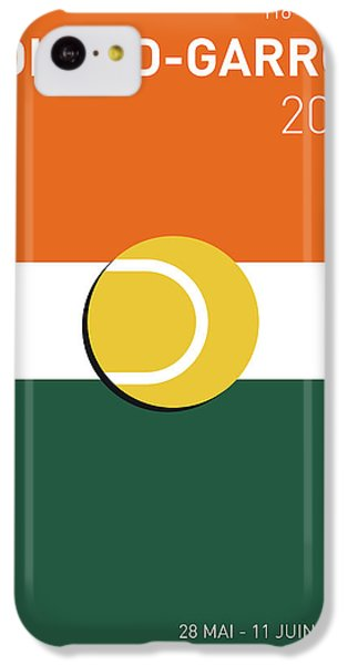 Tennis iPhone 5c Case - My Grand Slam 02 Rolandgarros 2017 Minimal Poster by Chungkong Art