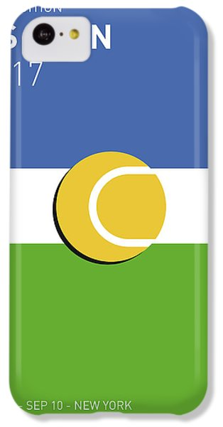 Tennis iPhone 5c Case - My Grand Slam 04 Us Open 2017 Minimal Poster by Chungkong Art