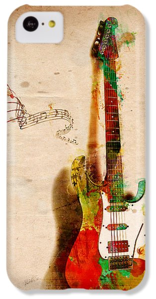 Rock And Roll iPhone 5c Case - My Guitar Can Sing by Nikki Smith