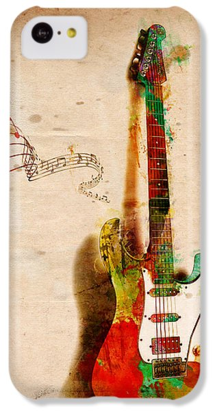 Guitar iPhone 5c Case - My Guitar Can Sing by Nikki Smith