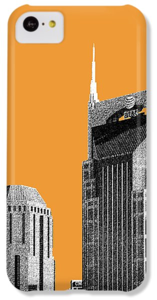 Nashville Skyline At And T Batman Building - Orange IPhone 5c Case