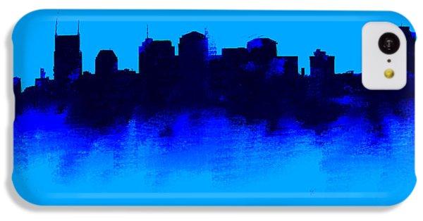 Nashville  Skyline Blue  IPhone 5c Case by Enki Art