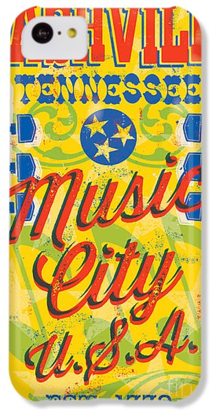 Nashville Tennessee Poster IPhone 5c Case