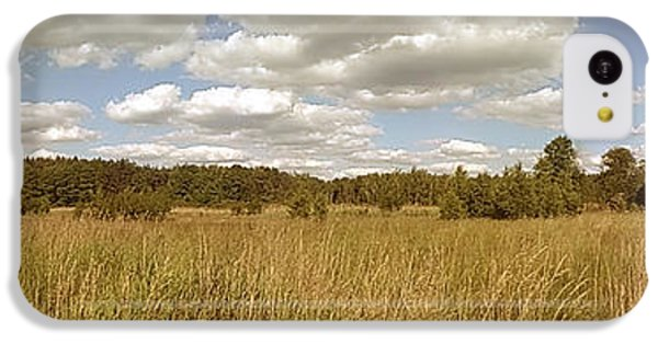 Sunny iPhone 5c Case - Natural Meadow Landscape Panorama. by Arletta Cwalina