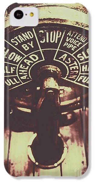 Navigation iPhone 5c Case - Nautical Engine Room Telegraph by Jorgo Photography - Wall Art Gallery