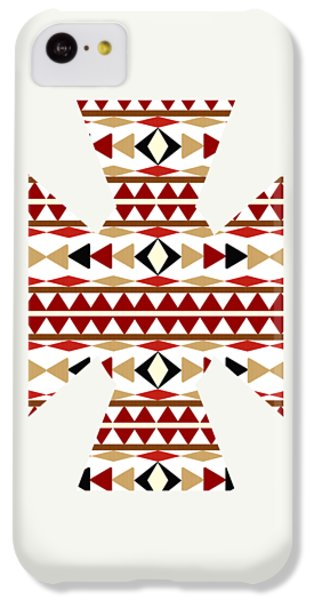 Navajo White Pattern Art IPhone 5c Case by Christina Rollo