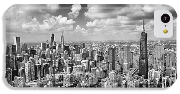 Hancock Building iPhone 5c Case - Near North Side And Gold Coast Black And White by Adam Romanowicz