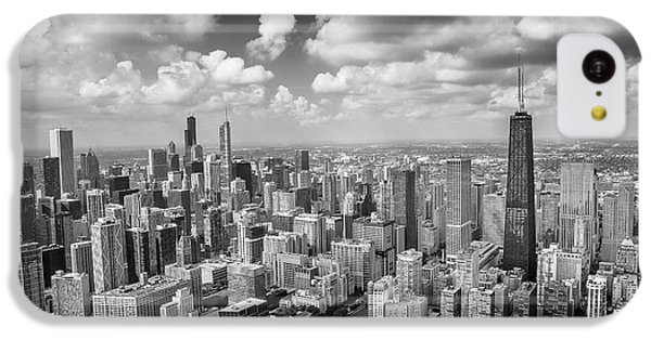 IPhone 5c Case featuring the photograph Near North Side And Gold Coast Black And White by Adam Romanowicz